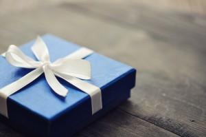 Blue elegant gift box